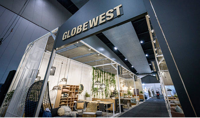 GlobeWest stand entrance