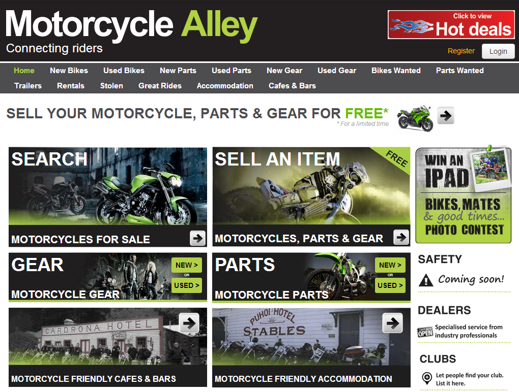 MotorCycle Alley Website
