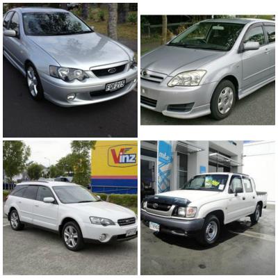 Toyota Corolla, Subaru Legacy, Toyota Hilux, Ford Falcon