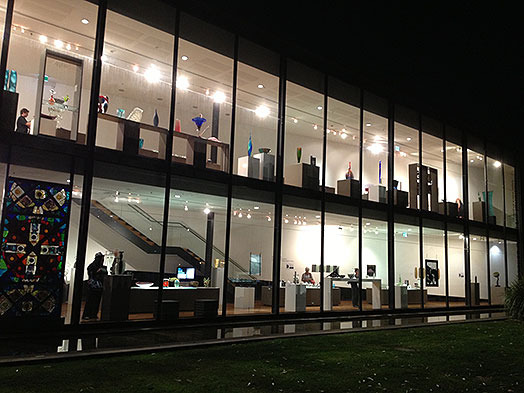 Wagga Wagga Art Gallery at night