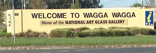 Wagga Wagga, home of the National Art Glass Gallery